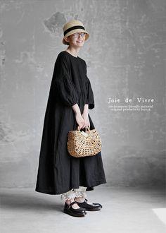 【送料無料】Joie de Vivreフレンチリネンワッシャー ギャザーアンティークワンピース Mori Fashion, Modest Fashion, Unique Fashion, Vintage Fashion, Womens Fashion, Fashion Design, Japanese Minimalist Fashion, Minimal Fashion, Japanese Fashion