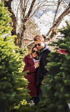 visiting boyfriend's family for the holidays, hello fashion blog, couple christmas trees, cute couple, christmas tree lot, christmas tree couple photos