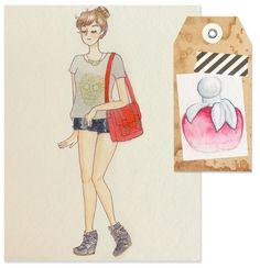 Fashion Illustration - Nina Elixir, Nina Ricci