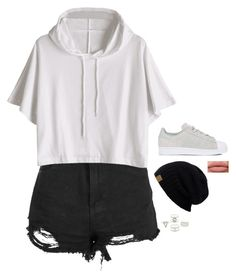 """Untitled #5029"" by if-i-was-famous1 ❤ liked on Polyvore featuring Boohoo, adidas and Charlotte Russe"