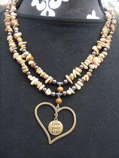 LOVE YOUR LIFE  $16.95  www.etsy.com/shop/meandjpsjewelry