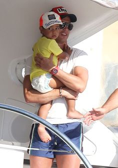 Cristiano Ronaldo And Son On Holiday In St. Tropez