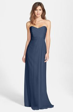 Amsale Strapless Crinkle Chiffon Gown Nordy - $310