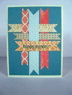 This card was made using Bazzill's Wayfarer paper. Join the Card Swap at www.bazzillbasics.com