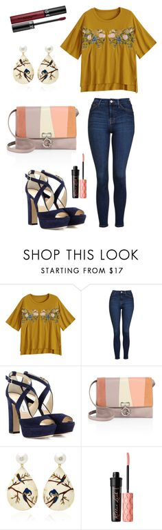 """""""epic"""" by selin-richie ❤ liked on Polyvore featuring Topshop, Jimmy Choo, 10 Crosby Derek Lam, Silvia Furmanovich, Benefit and Sephora Collection"""