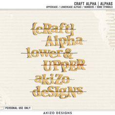 Craft Alpha by Akizo Designs
