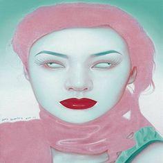 artnet Galleries: Chinese girl series No. 17 by Feng Zhengjie from David Benrimon Fine Art, LLC