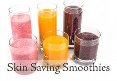 3 Skin Saving Smoothies to hydrate, detox, depuff and glow. Juicing for skin. #juice