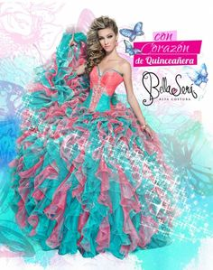 85e611e69 Wholesale 2016 new sweet 15 dress fuchsia and baby pink beaded rhinestones  ruffled organza quinceanera ball gown