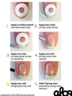 I MUST TRY THIS DIY Spring French Mani Tutorial I am not good at this, so I must try this.
