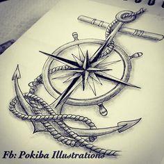 Resultado de imagen de ideas sobre ancla y reloj tattoo