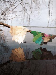 Anu Tuominen Land Art, Textile Art, Finland, Cartier, Textiles, Dreams, Cabinet, Colors, Artwork