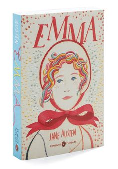 Emma by Jane Austen, embossed with an original hand-stitched embroidery design by Jillian Tamaki