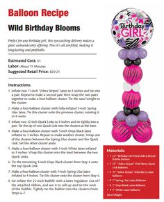 Wild Birthday Blooms —A balloon bouquet perfect for any birthday girl.