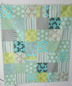Easy quilt pattern - awesome colors!