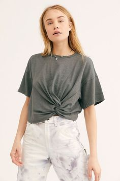 51b1969f322 Montana Top - Free People Basics - Short Sleeve Top Slouchy Tee, Winter  Clothes,