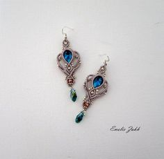 Earrings micromacrame.Boho earrings style.Macrame work