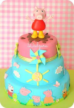 *Dulzura* Peppa pig cake