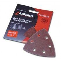 Abracs Hook & Loop 93 x 93mm Triangle Sanding Pads
