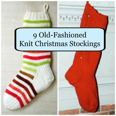 9 Old-Fashioned Knit Christmas Stockings | AllFreeChristmasCrafts.com