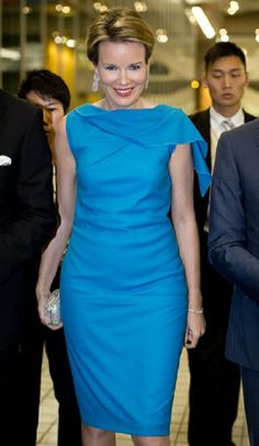 Queen Mathilde of Belgium during a design event ''Surreal Dinner'' on the occasion of the 'Hong Kong Business of Design Week (BoDW)' event in Hong Kong, 05.12.13.