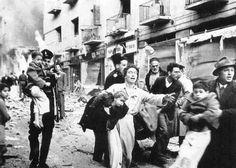 Jews fleeing a bombing of Ben Yehuda Street in Jerusalem - February 22, 1948.