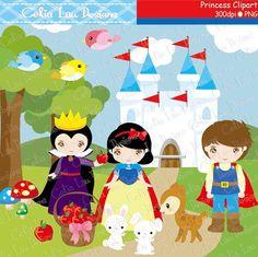 Princess Digital Clipart Princess Clipart Snow by CeliaLauDesigns, $5.00
