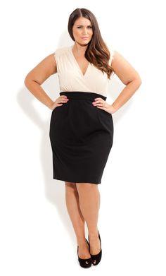 City Chic - BEADED BLUSH DRESS - Women's plus size fashion