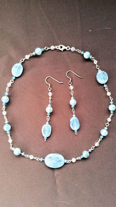 Etsy listing at https://www.etsy.com/listing/204874749/kyanite-and-sterling-silver-necklace-and