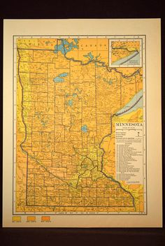 Minnesota Map Minnesota Topographic Map Colorful Colored Topo