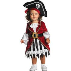 Pirate Princess Toddler Halloween Costume... cloie is going to take everybody treasure on halloween in this little outfit