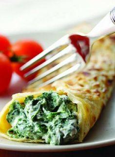 Low FODMAP Recipe and Gluten Free Recipe - Spinach & feta pancakes