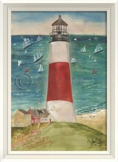 Spicher and Company The Path to Sankaty Lighthouse Framed Wall Art