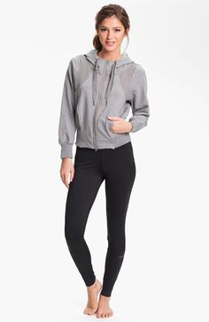 adidas by Stella McCartney Women's Adidas By Stella Mccartney Essentials Zip Hoodie, Size X Small Grey from NORDSTROM | ShapeShop