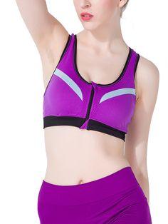 1aabcc9b16a22 Burvogue Ladies Push Up Padded Underwear Workout Sports Bras With Zip Sport  Waist Trainer