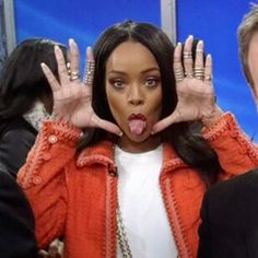 Rihanna sur le plateau de Good Morning America à New York, le 29 janvier 2014.