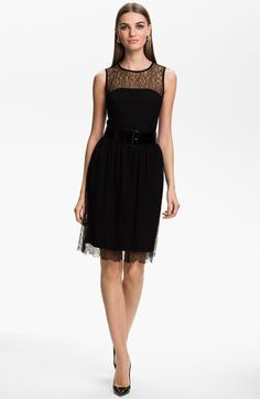 St. John Collection Sleeveless Chantilly Lace Dress // Rehearsal Dinner Dress Inspiration