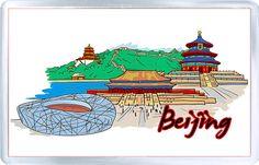 $3.29 - Acrylic Fridge Magnet: China. Beijing