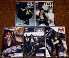STAR WARS HAN SOLO 1-5 1 2 3 4 5 VARIANT FIRST PRINTINGS 2016 MARVEL CHEWBACCA