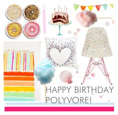 """""""Happy Birthday!!"""" by southernpearldesigns ❤ liked on Polyvore featuring art, contestentry and happybirthdaypolyvore"""