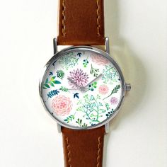 Floral Watch. Flowers. Leaves. Twigs. Watches for by FreeForme