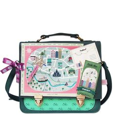 Memento City Satchel Part of our Memento range this city satchel is something pretty special The front of the bag features textured detailing of a