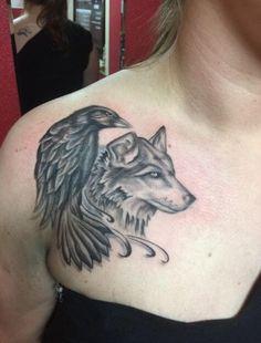 130+ Best Wolf Tattoos for Men (2021) - Howling, Lone, Tribal Designs Black Crow Tattoos, Wolf Tattoos For Women, Animal Tattoos For Men, Sleeve Tattoos For Women, Tattoos For Guys, Tattoo Black, Tribal Wolf Tattoo, Geometric Tattoo Arm, Geometric Bear