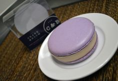 GIANT MACARON SANDWICHES! We've teamed up with La Petite Sucre LLC to create these beautifully delicious sandwiches. They are two giant macaron cookies with our Kentucky Blackberry & Buttermilk ice cream in between. They are gluten-free and available at Thai Orchid Cafe.