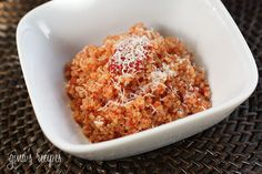 Quinoa rizotto Combining cooked quinoa and some leftover homemade sauce like filetto di pomodoro you can make a quick, easy meal in minutes.
