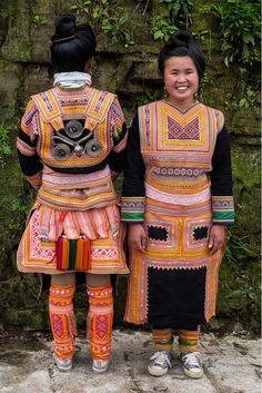 China | Traditional Kazhai (Maio) style costume.  Kazhai village, Guizhou | ©Rita Willaert