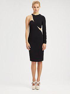 Stella McCartney One-Sleeve Illusion Dress. The back is AMAZING! #motivation