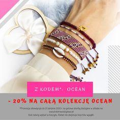 Do końca sierpnia z kodem OCEAN możesz kupić skarb z kolekcji z 20-proc. zniżką 😁 Bangles, Bracelets, Ocean, Gold, Jewelry, Fashion, Moda, Jewlery, Jewerly