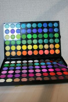 turn eyeshadow into nail polish... perfect for the colors I never wear!