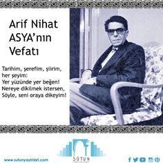 Arif Nihat Asya'ya Allah'tan Rahmet Diliyoruz... #sair #poet